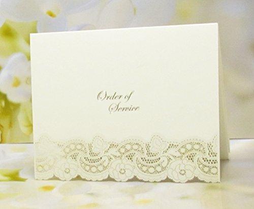 Argento Bellfleur DIY ordine di servizio wedding Hot foil Embossed Pearlescent laser Cut Cards inserti a stampa Inc x