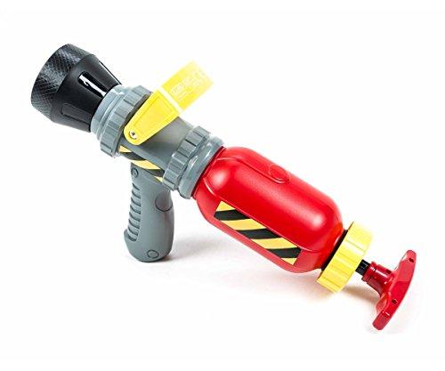 Eddy Toys Wasserpistole Feuerwehr, Druckhebel, Spritzenhalter, große Einfüllöffnung, Größe ca. 7,5 x 37 cm