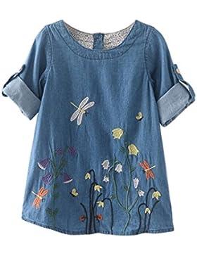 Vestido de niña, RETUROM Princesa Dresses del dril de algodón del bordado de la flor de la nueva niña