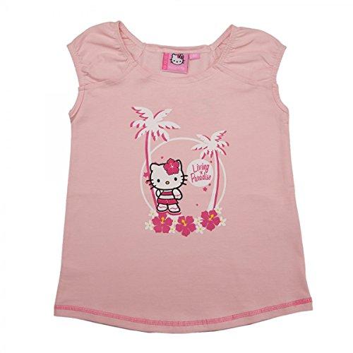 Hello Kitty T-Shirt Top Living n Paradise Mädchen | Kurzarm | Pink | Größe 80 (Sweatshirt Für Kitty Hello Mädchen)