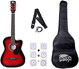 Intern INT-38C Acoustic Guitar Kit, Red