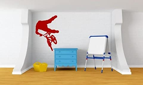 Vélo BMX Extreme Ride Sticker mural, Strawberry Red, Large: 60cm x 90cm / 24