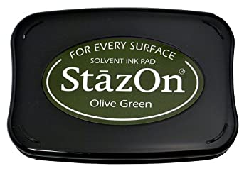 Tsukineko Stazon Stamp Pad, Olive Green 0