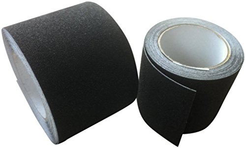 Anti Slip Tape High Grip Adhesive Backed Non Slip Tape - Black - 50mm - 9 Metre
