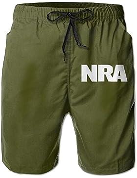 NRA National Rifle Association Men's Casual Classic Fit Beach Swim Trunks Board Shorts