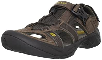 Teva Men's Omnium Closed-Toe Sandal Brown 7 D(M) US