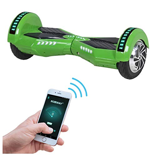 Robway W2 Hoverboard - Das Original - Samsung Marken Akku - Self Balance - Bluetooth - 2 x 350 Watt Motoren - 8 Zoll Räder (Grün)