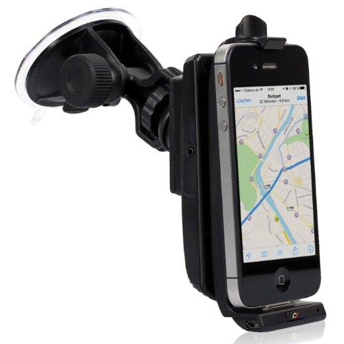 iGrip Made for iPhone Kfz-Halterung mit SIRF III GPS, Bluetooth Freisprecheinrichtung, Lautsprecher für Apple iPhone 3/3G/4/4S Iphone 3g Bluetooth