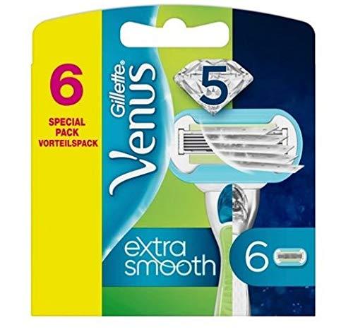 Gillette Venus Extra Smooth Ersatzklingen, 6 Stück