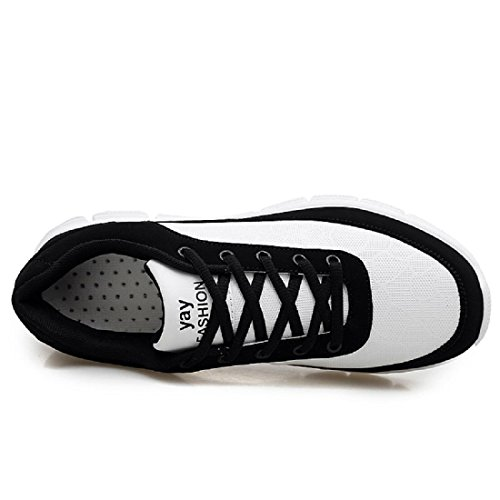 Schuhe Laufschuhe Mode draussen black Flache and white Turnschuhe Park Herren Sportschuhe Y0wqYP