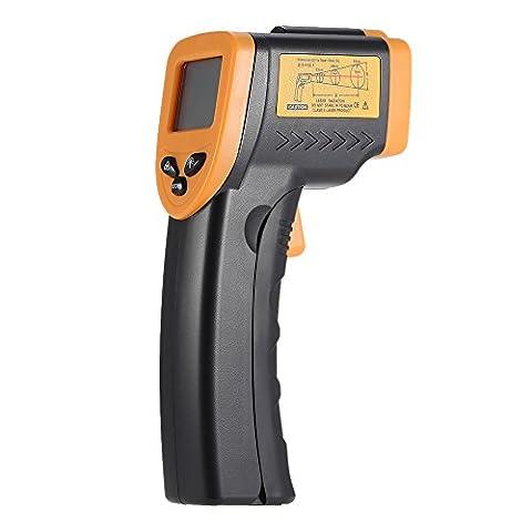KKmoon: Thermomètre numérique laser à infrarouge sans contact - 50°C / + 380°C