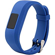 For Vivofit JR.2 Bands, Large Replacement Wristbands for Garmin vivofit JR2, Active Bright Colors Silicone Straps for Garmin vivofit jr. 2, Dark Blue