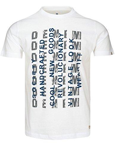Basefield Herren T-Shirt mit Print - Pale Green (218000578) 100 WEISS