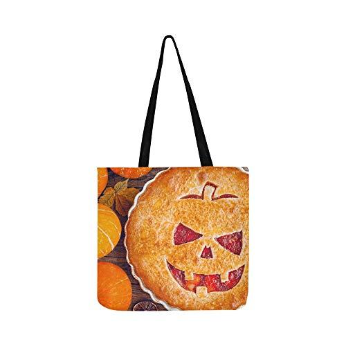 Köstliche hausgemachte Kuchen Halloween Füllung Pumpkinstrawberry SHAOKAO SHAOKAO Canvas Tote Handtasche Schultertasche Crossbody Taschen Geldbörsen für Männer und Frauen Einkaufstasche