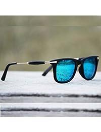 PIXLTOUCH Golden Stick Blue Mercury Unisex Sunglasses New Style UV For Men/Woman/girls/boys (New-Stylish-Aviator-Golden-Stick)