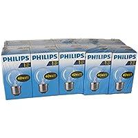 Philips 30600005E, ampoule à incandescence en forme de poire, Verre, transparent, E27 40 wattsW, Lot de 10