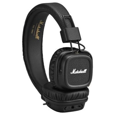 Marshall Major II Bluetooth On-Ear Kopfhörer (30+ h Akku, Mikrofon, faltbares Design) schwarz
