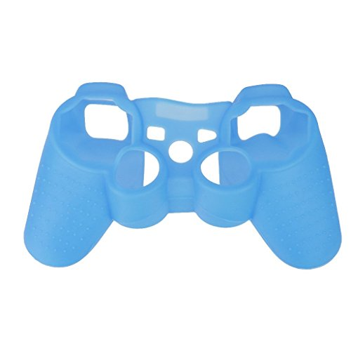 Imported Luminous Case Protect Skin Cover Bag For Playstation PS3 Controller Blue