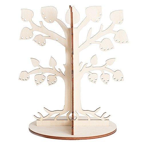 Schmuckbaum Aufbewahrung fur Ohrringe - Schmuck Stander auf Holz - Schmuckhalter fur Ketten - Schmuckstander in Baum form - Halter fur Kette - Ohrringständer fur Geschenke -
