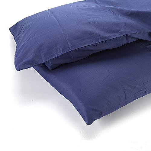 Q4Home Kissenbezüge aus 100% Baumwolle. Königin Größe. Satz von 2. Kissenbezüge aus ägyptischer Baumwolle. (Navy Blau) -