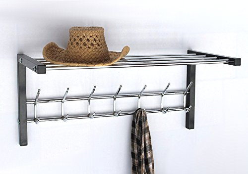 Wandgarderobe mit Hutablage Art.389 Garderobe 70 cm Kleiderhaken Wandregal Haken