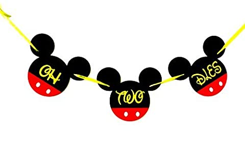 OH TWO DLES! Mickey Mouse Birthday Banner | Minnie Birthday Decrations | Happy Birthday Banner | Mickey mouse birthday Banner | Disney Banner | Club House 2nd birthday | Card Stock Banner