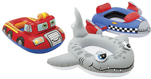 Price comparison product image Intex Kids Aqua Water Fun Play Fire Engine Shark Rocket Pool Cruiser Set Of 3