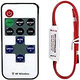 Interruptores Remoto Mini 12V RF Wireless Controller Atenuador de Luz LED Strip