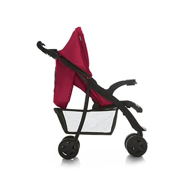 Hauck Shopper Neo II, Folding Pushchair from Birth to 25 kg, Lightweight with Lying Position, Two Cupholder Trays, One Hand Fold, Caviar/Tango Hauck Fold in seconds with one hand Comfortable seat with lying position and adjustable footrest Includes 2 practical bottle trays 4