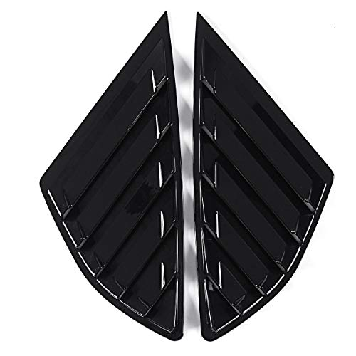 Viviance Car Rear Quarter Panel Side Vent Window Louvers Cover Für Ford Fusion Mondeo 4 Door - Helles Schwarz -