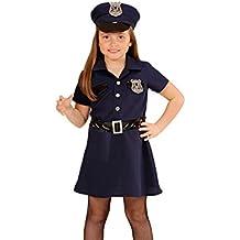 Widmann 49088–Disfraz para niños Agente de Policía, vestido, cinturón, sombrero, Esposas, de walkie talkie, tamaño 158