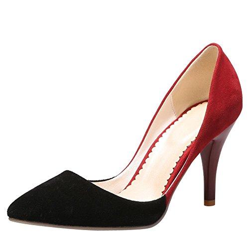 MissSaSa Donna Scarpe col Tacco Alto Piede Elegante Pumps Nero