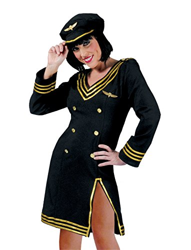 Pierro´s Kostüm Pilotin Lorry Größe (Luftfahrt Themen Party Kostüme)
