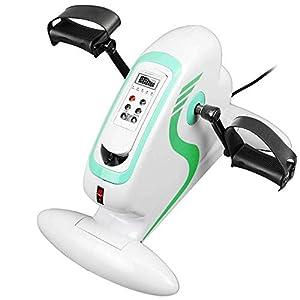 PrimeMatik – Pedaltrainer für Arme und Beine Heimtrainer Minifahrrad Mini Bike mit LCD Display und Elektromotor