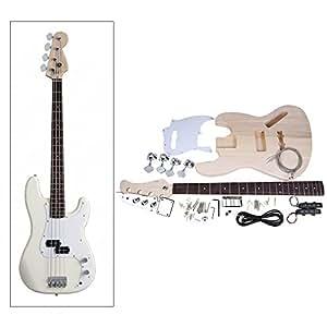 Andoer JAZZ Bass Style 4 Cordes Electrique Basse Solide Tilleul Corps érable Touche Palissandre Bricolage Trousse de Panoplie