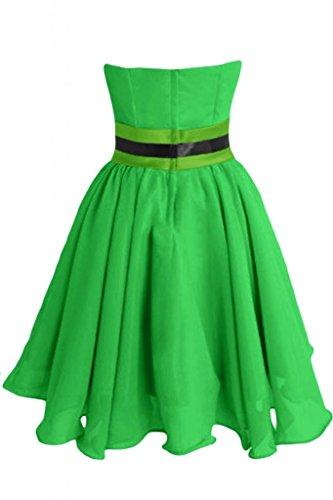 Sunvary Chic Vestito corto in Chiffon abito A-Line Abito da Cocktail, per feste Verde