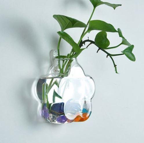 Wandmontage blumenförmigen Glas Blume Vase Home Garten Hochzeit Party Dekoration von shopidea