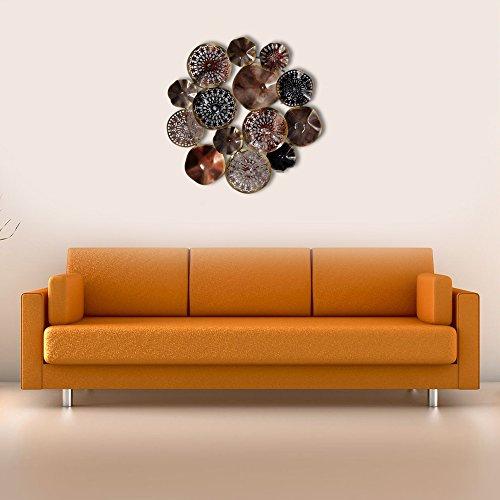 Decorlives groß Multi Color Multi Form Kreise Metall Wand Skulptur Art Wandbehang Dekor - Kreise-wand-skulptur