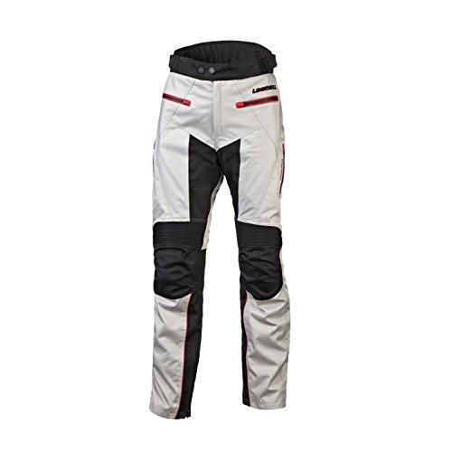 Motorrad-chaps Frauen (Lookwell Outback Textil Motorrad Reiten Hose, Silber/Schwarz/Rot, Größe 64/44(6x l))