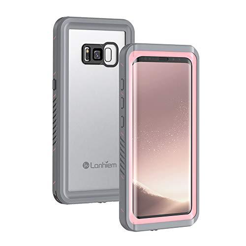 Lanhiem Cover Samsung S8 Impermeabile, [IP68 Certificato Waterproof] Full Body con Protezione dello Schermo Antiurto Antineve Antipolvere AntiGraffio Subacquea Custodia per Galaxy S8, Rosa