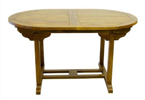 Divero Gartentisch Esstisch Balkontisch – Holztisch Akazie für den Außenbereich – groß witterungsbeständig massiv ausziehbar behandelt - 180/240 cm