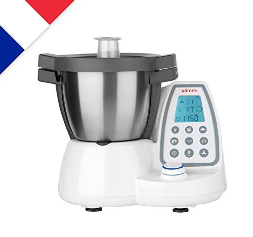 Yämmi Robot de Cuisine Multifonctionnel en Français, Capacité Brute de 4.8 l, 9 Accessoires,...