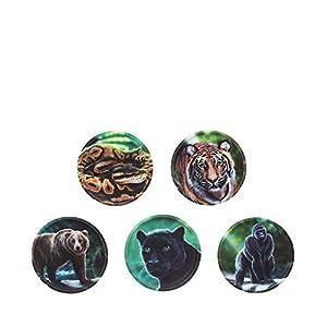 ergobag Klettie – Set, 5-Teilig, Klett, Dschungel