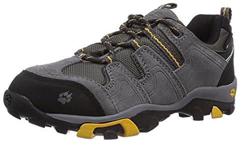 Jack Wolfskin BOYS MTN ATTACK LOW TEXAPORE, Jungen Trekking- & Wanderhalbschuhe, Grau (golden yellow 3015), 34 EU (2 Kinder