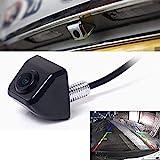 fenrad Nero E366 Impermeabile Posteriore Vision Macchina Fotografica Telecamera da Retromarcia CCD Angolo di Visione da 170 Gradi Vista Frontale Back Camera avanti Reserve Parcheggio per Auto-Black