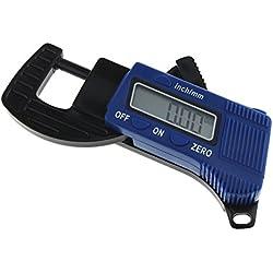 'ueetek Mini Portable 0.5Jauge d'épaisseur numérique micromètre Jauge d'épaisseur Outil de mesure (Bleu)