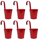 K7plus 6er Hängetöpfe rot lackiert mit Haken