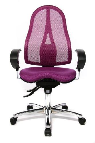 Topstar ST19UG03 Sitness 15, ergonomischer  Bürostuhl, Schreibtischstuhl, inkl. höhenverstellbare Armlehnen, Bezugsstoff  lila