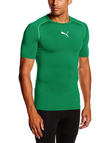 Green T-shirt Tee (PUMA Herren T-shirt TB Short Sleeve Tee, power green, S, 654613 05)