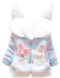 Tkria Bebé Niñas Chaqueta Sudadera con Capucha Manga larga Polca Punto Abrigo Hoodies